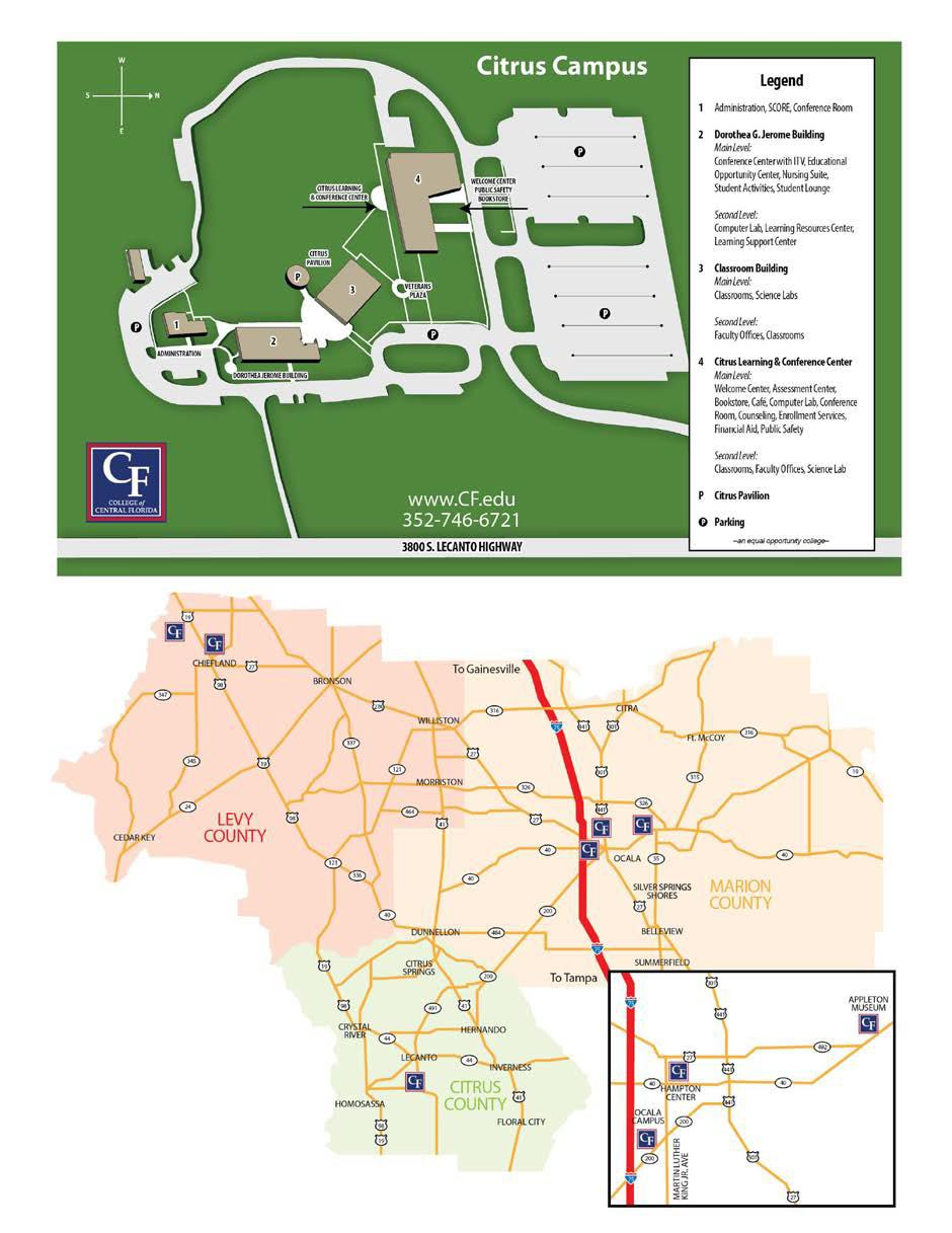 College of Central Florida - Citrus Campus Map on
