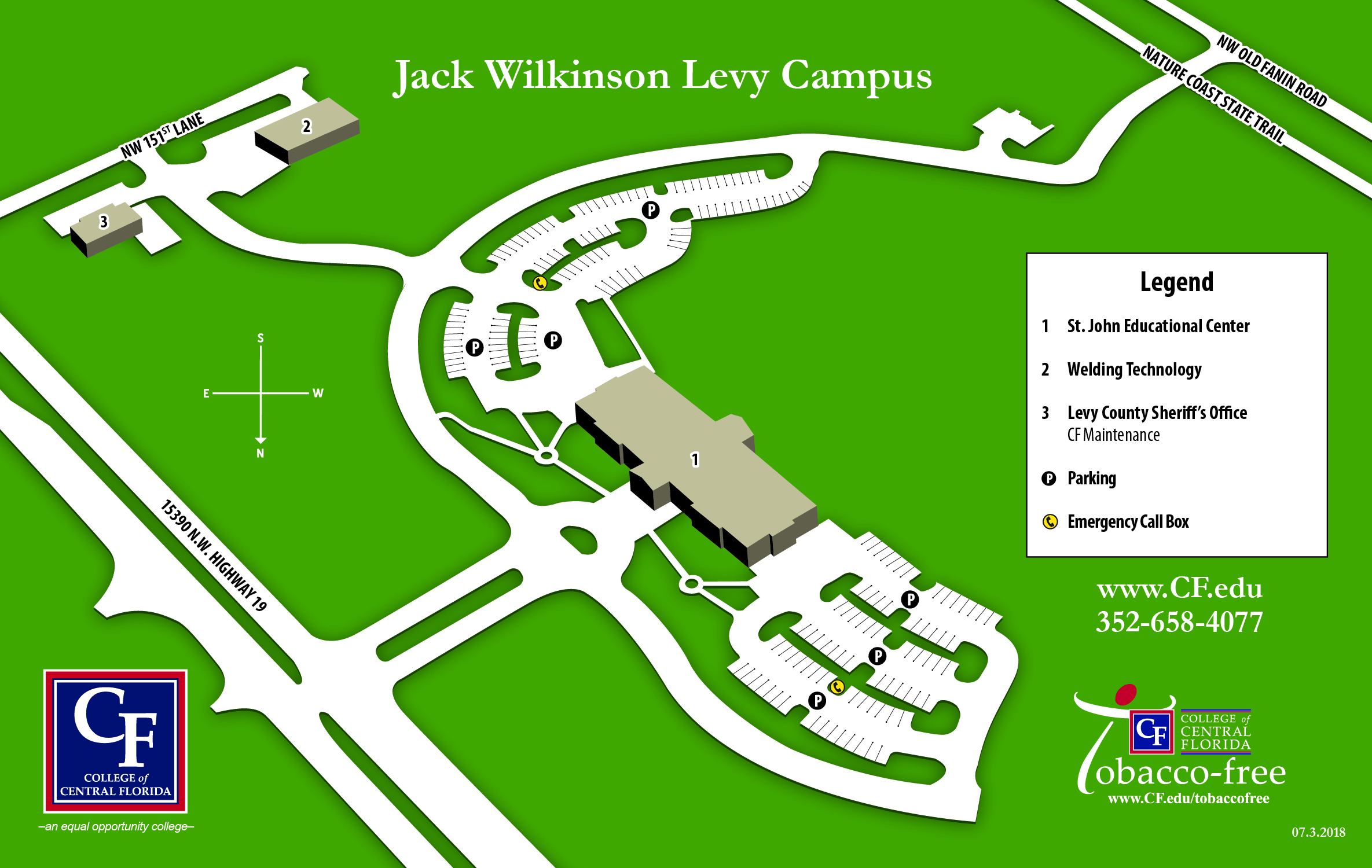 Levy Campus Map 2018