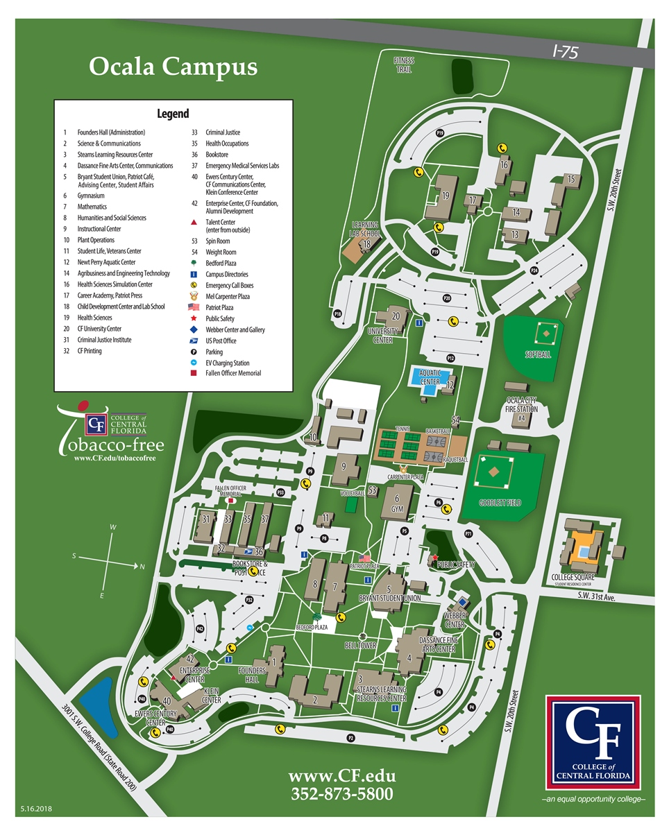 College Of Central Florida Ocala Campus Map