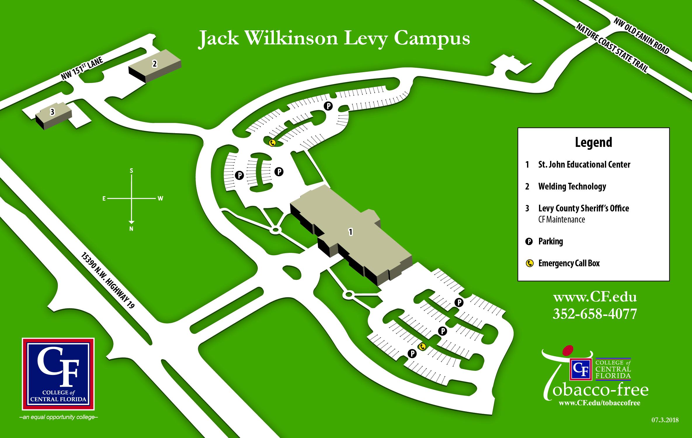 Levy Campus Map 2018