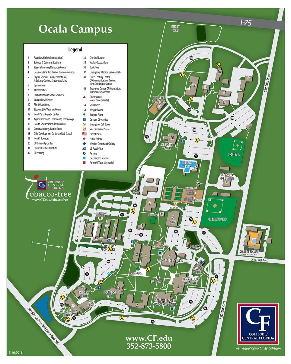 CF Ocala Campus Map 2018