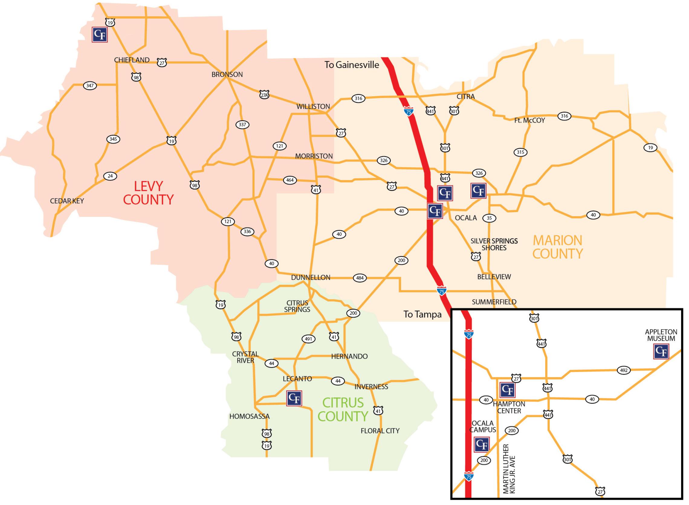 CF Service Area Map