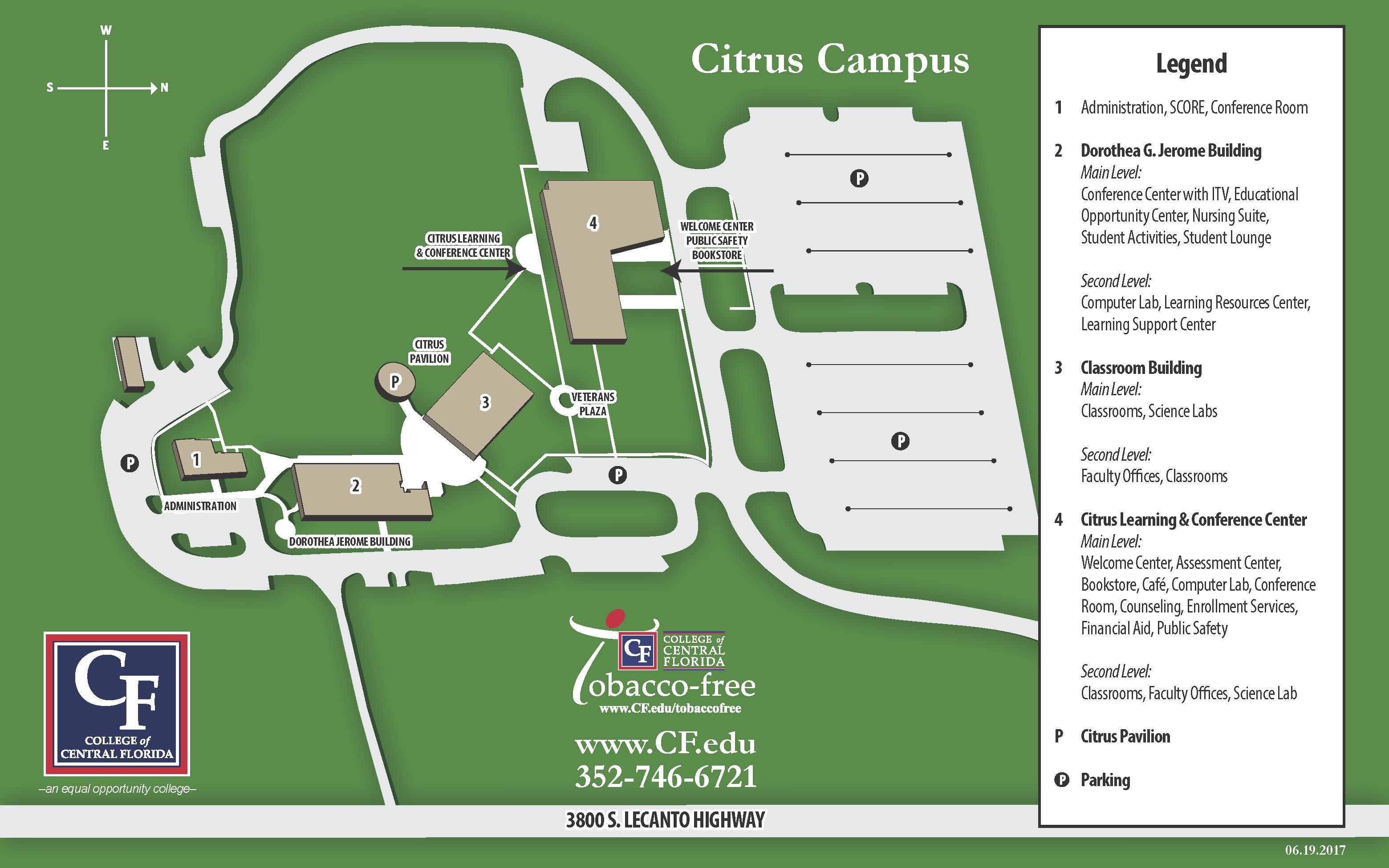 Citrus College Campus Map College of Central Florida   Citrus Campus Map